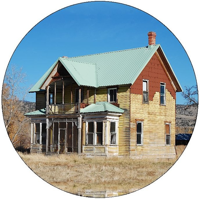 Abandoned House Pinback Buttons and Stickers