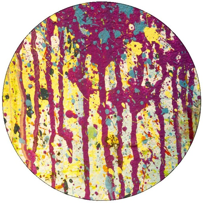 Paint Splatter Pinback Buttons and Stickers