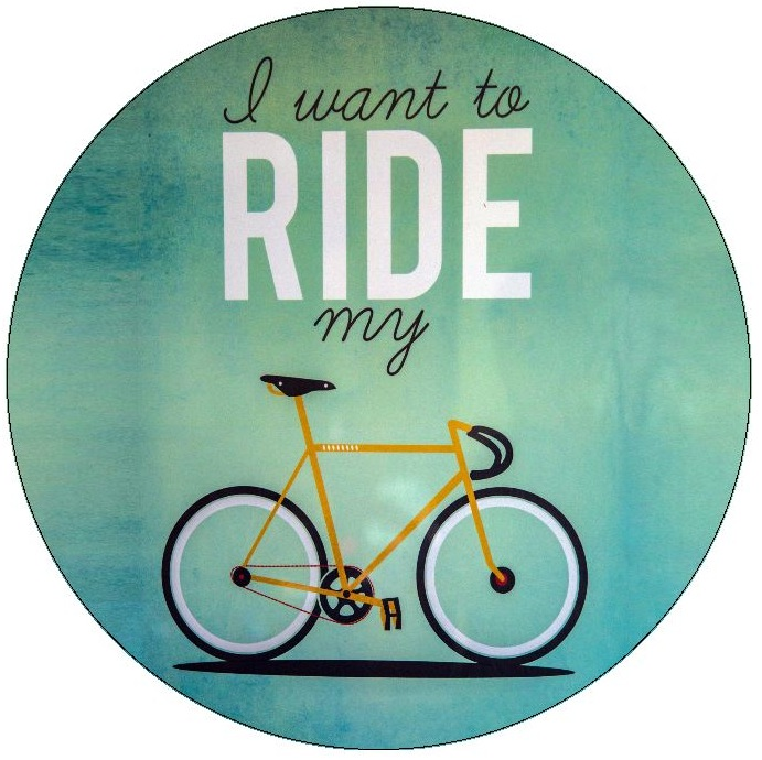Bicycle Pinback Buttons and Stickers