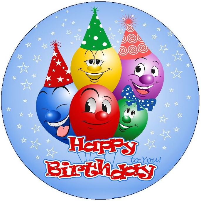 Birthday Balloons Pinback Buttons and Stickers