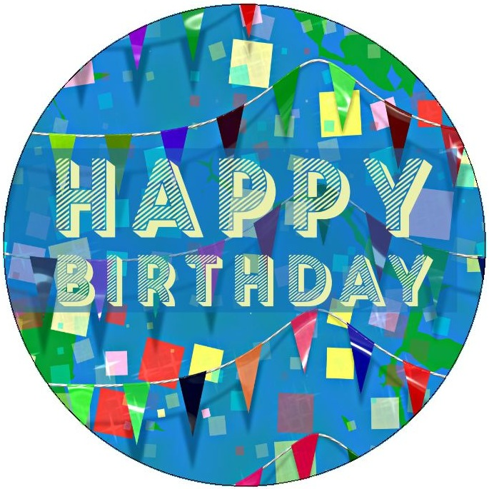 Happy Birthday Pinback Buttons and Stickers