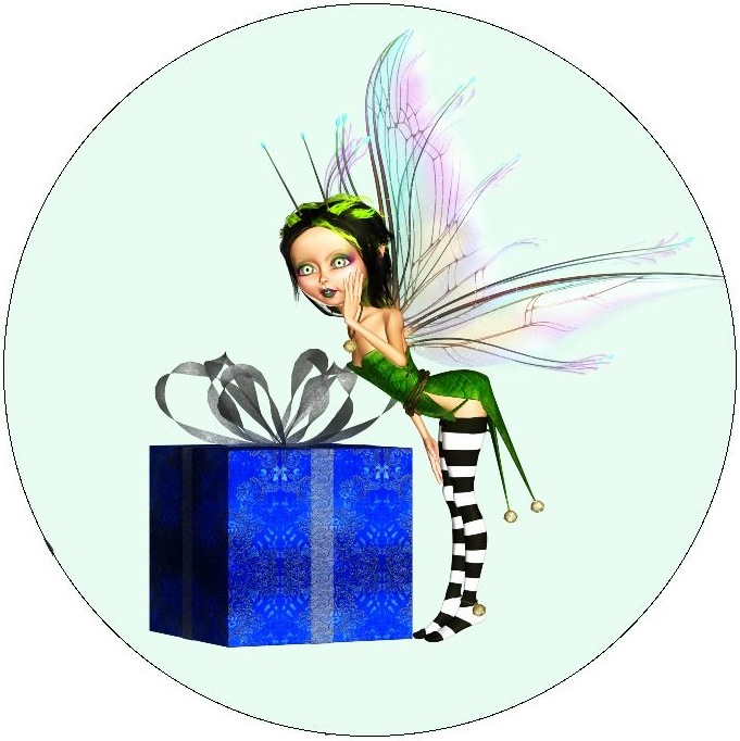 Birthday Fairy Pinback Buttons and Stickers
