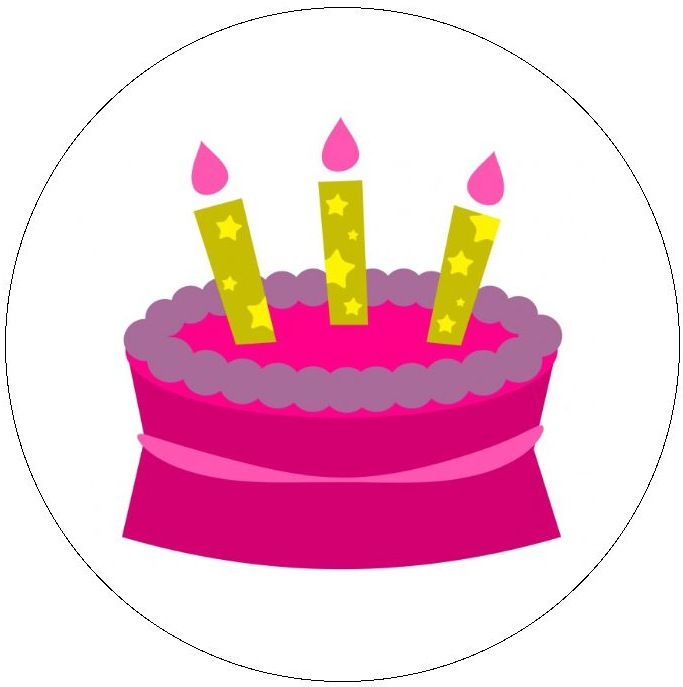 Birthday Pinback Buttons and Stickers