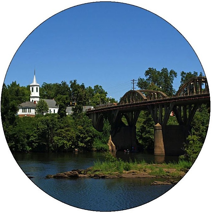 Bibb Graves Bridge Pinback Buttons and Stickers