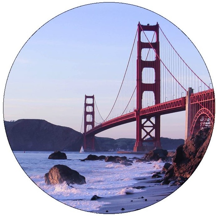 Golden Gate Bridge Pinback Buttons and Stickers