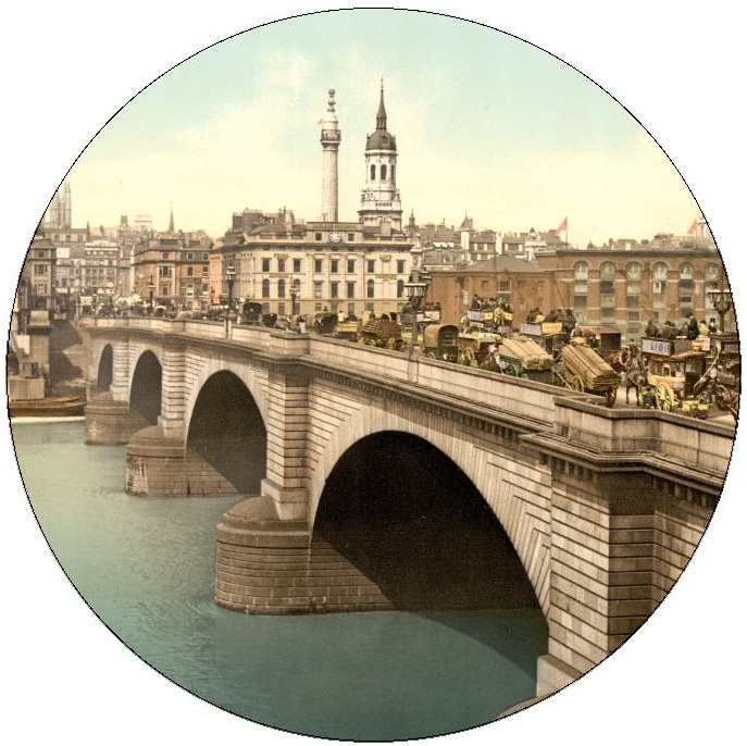 london Bridge Pinback Buttons and Stickers
