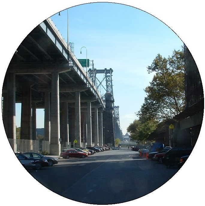 Manhattan Bridge Pinback Buttons and Stickers
