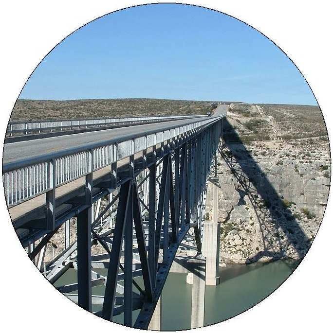 Bridge Across Pecos River Pinback Buttons and Stickers