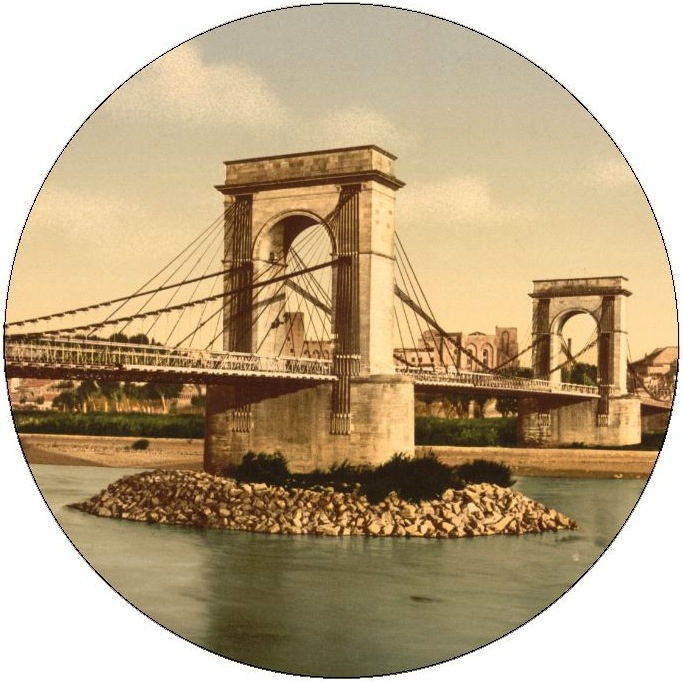 Rhone Bridge Pinback Buttons and Stickers