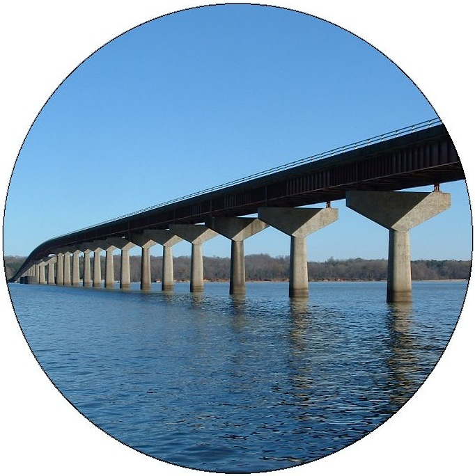 Bridge Across Tennessee River in Alabama Pinback Buttons and Stickers