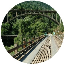Three Bridges Pinback Buttons and Stickers