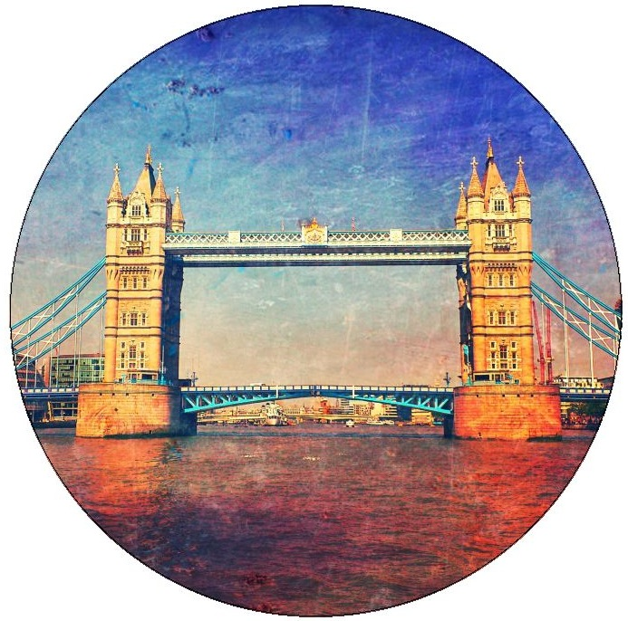 Tower Bridge Pinback Buttons and Stickers