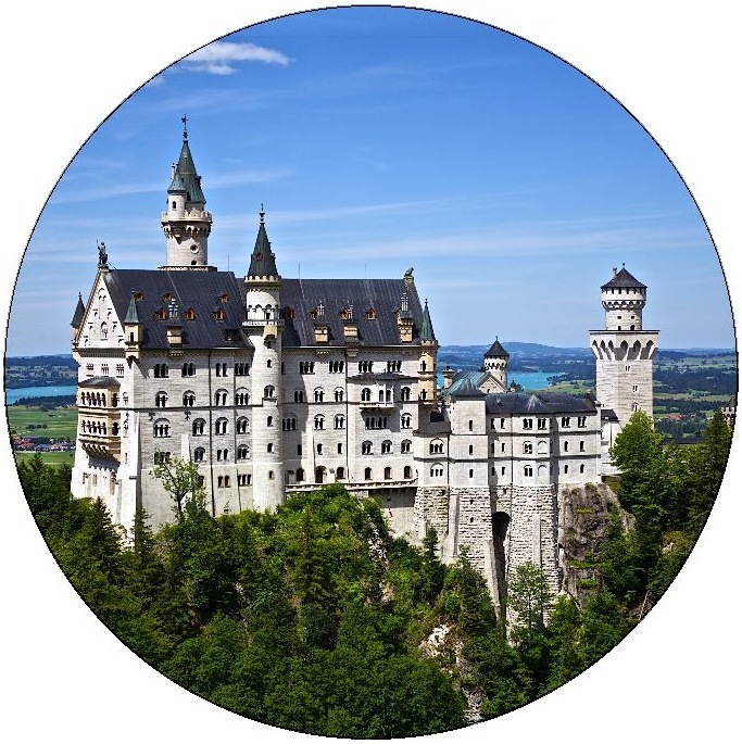 Neuschwanstein Castle Pinback Button and Stickers