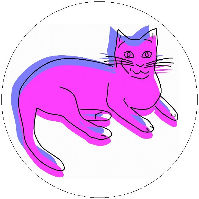 Cat Pinback Buttons and Stickers