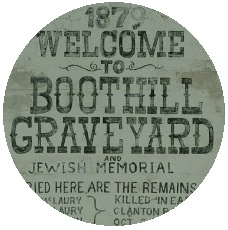 Boot Hill Cemetery Pinback Buttons and Stickers