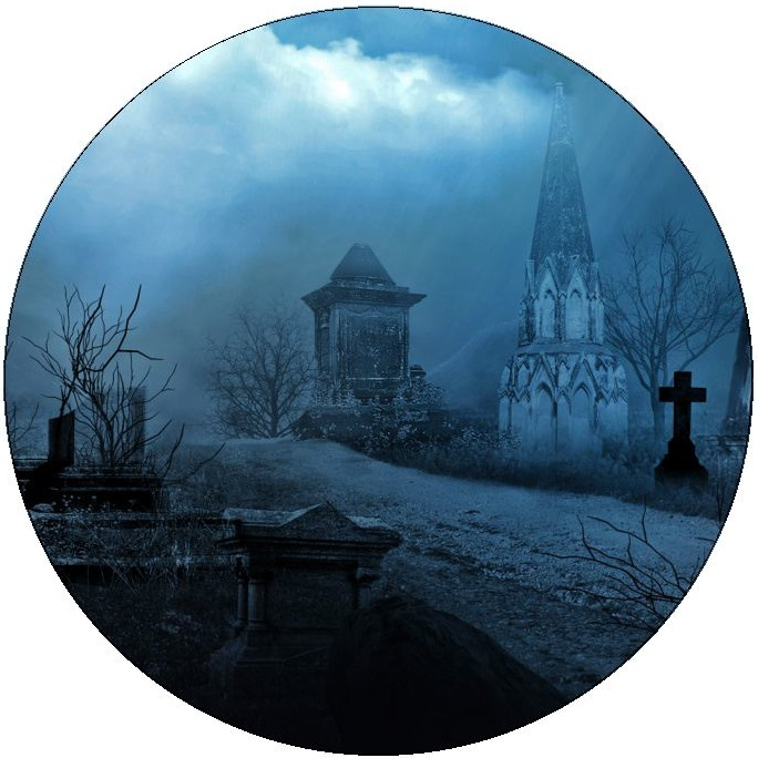 Cemetery Pinback Buttons and Stickers