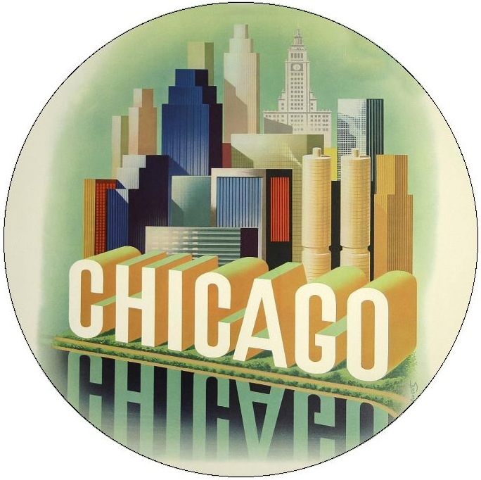 Chicago Pinback Buttons and Stickers