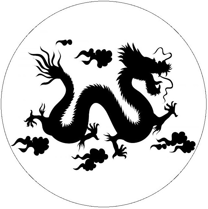 Chinese Dragon Pinback buttons and Stickers