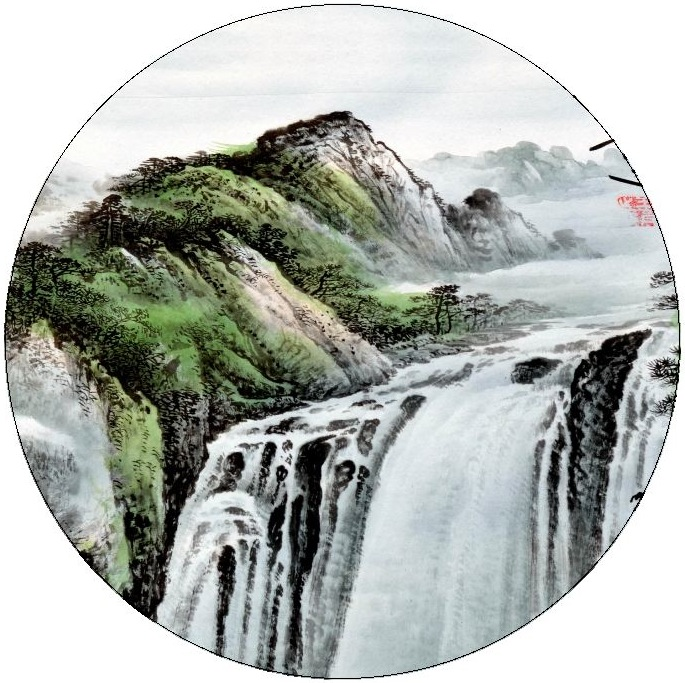 Chinese Prints Pinback buttons and Stickers