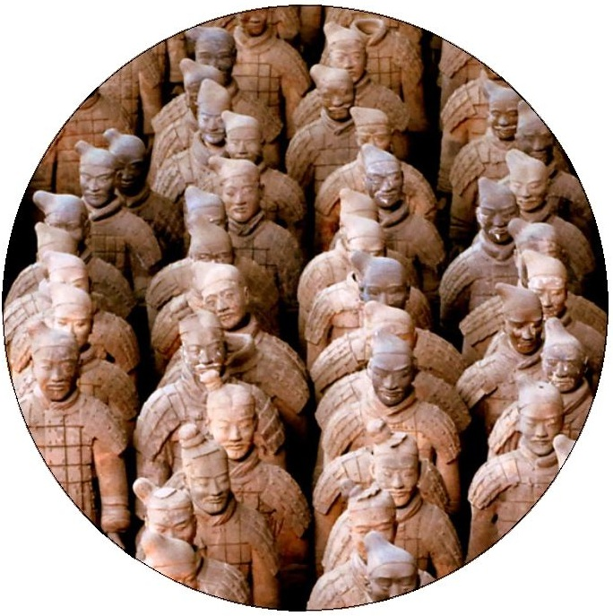 Chinese Terracotta Pinback buttons and Stickers