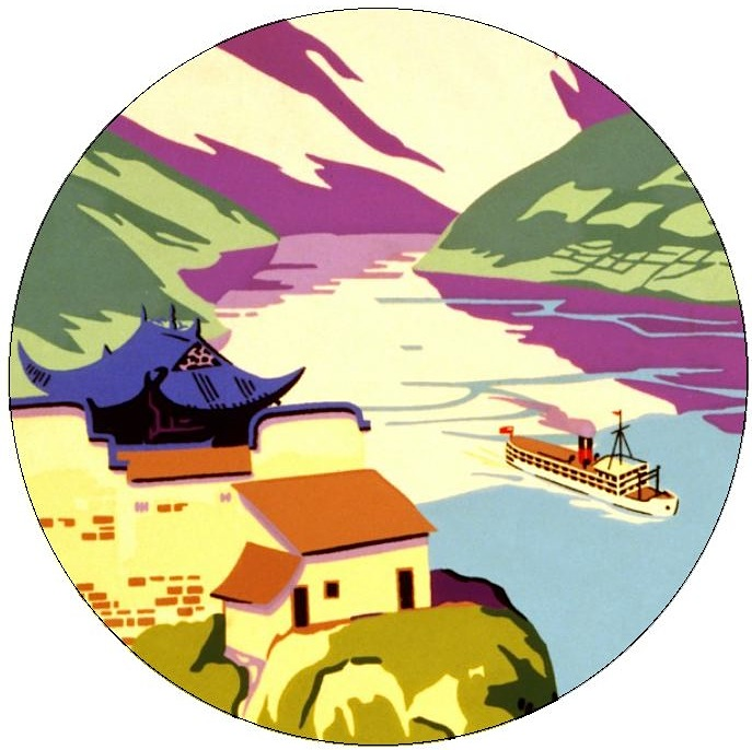 Yangtze Gorge Pinback buttons and Stickers