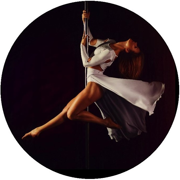 Pole Dance Pinback Buttons and Stickers