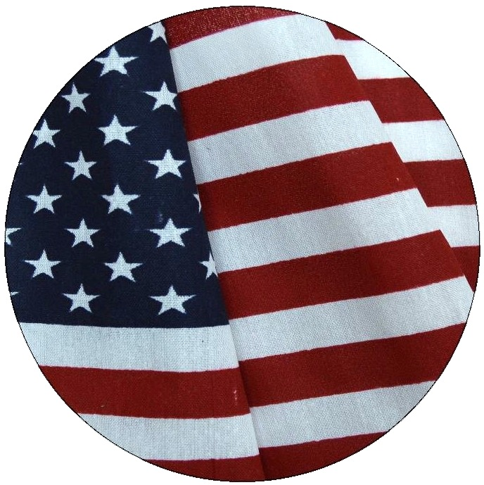 American Flag Pinback Buttons and Stickers
