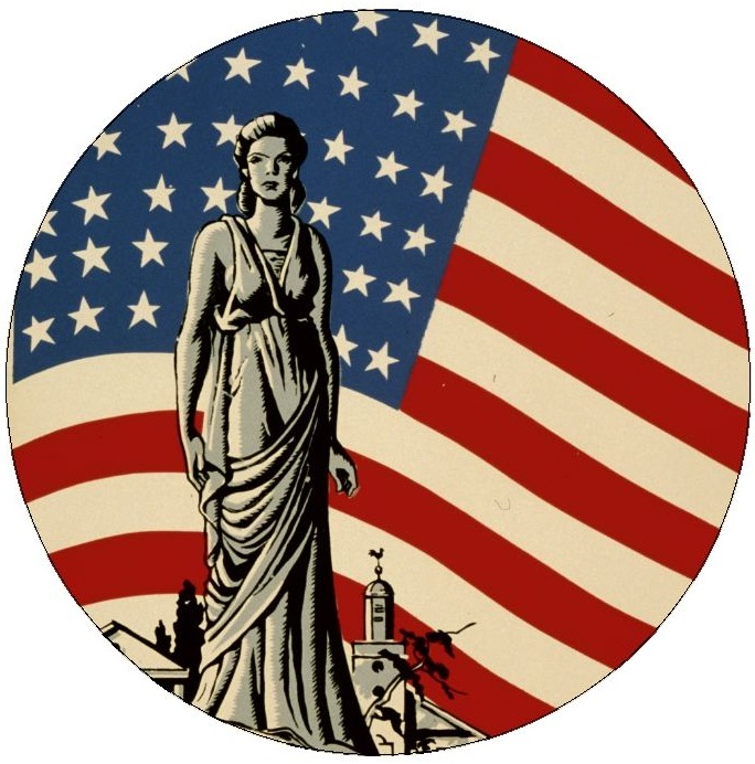 American Liberty Pinback Buttons and Stickers