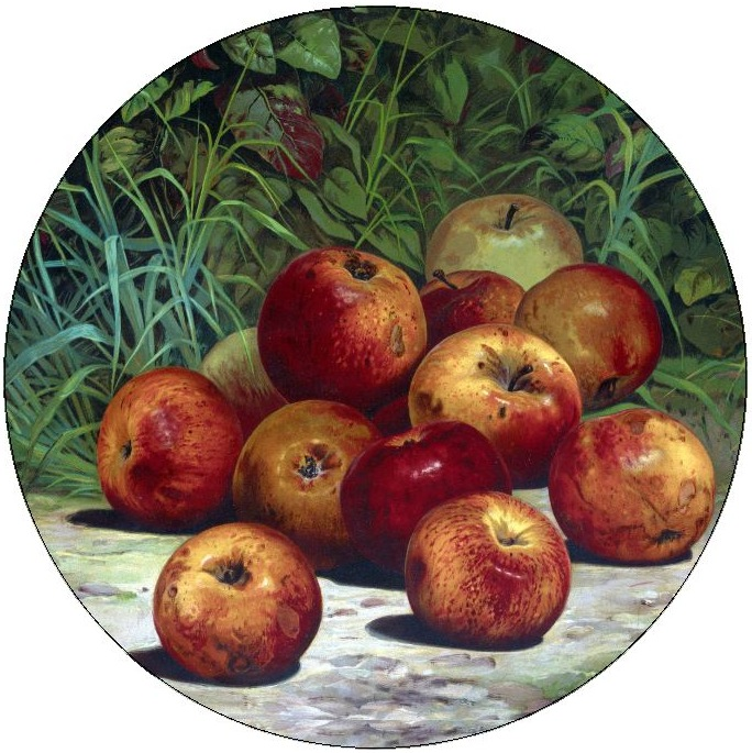 Apple Painting Pinback Buttons and Stickers
