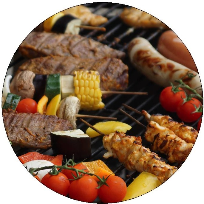 BBQ Pinback Buttons and Stickers