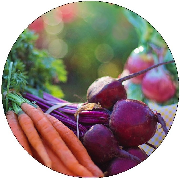 Beets and Carrots Pinback Buttons and Stickers