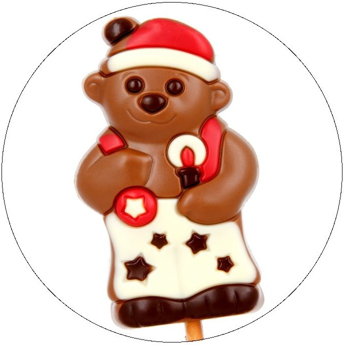 Chocolate Bear Pinback Buttons and Stickers