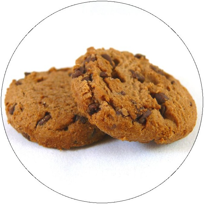 Chocolate Chip Cookies Pinback Button and Stickers