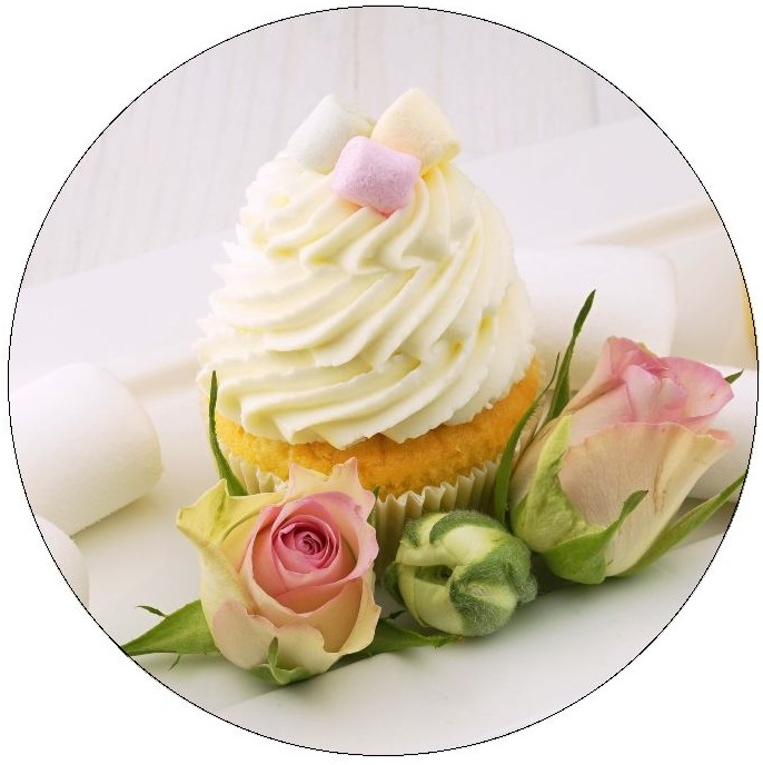 Cupcake Pinback Buttons and Stickers