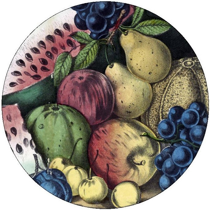 Fruit Painting Pinback Buttons and Stickers