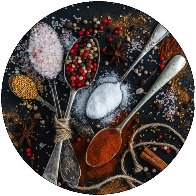Spices Pinback Buttons and Stickers