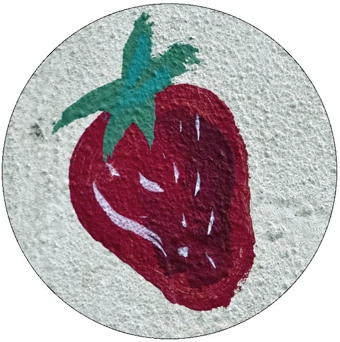 Strawberries Pinback Buttons and Stickers
