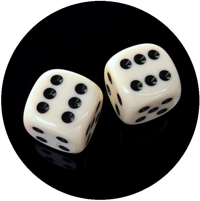Dice Pinback Buttons and Stickers