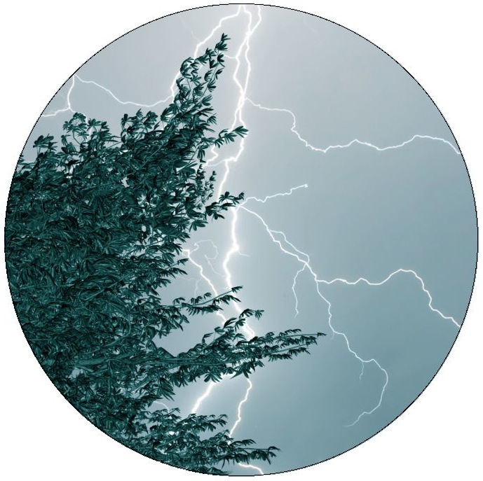 Lightning Pinback Buttons and Stickers