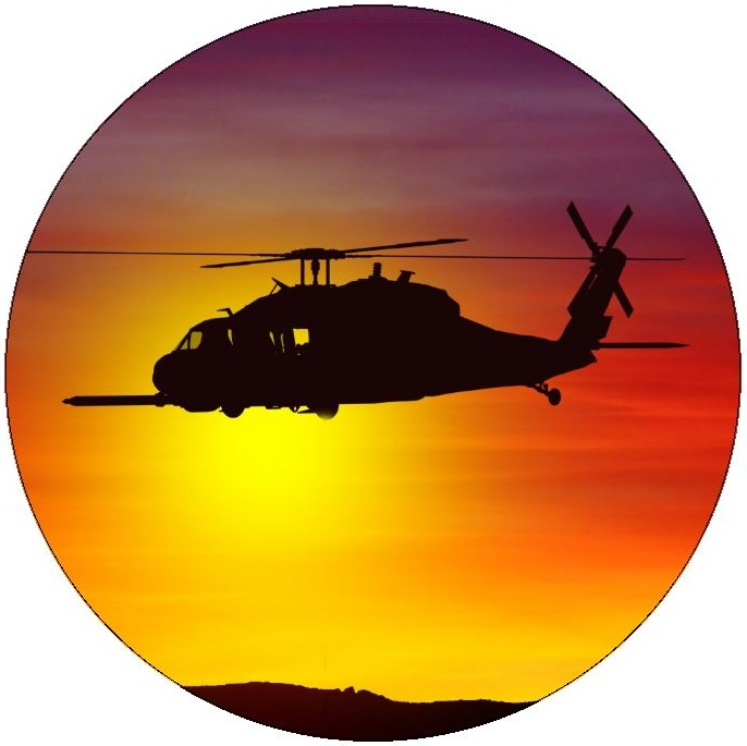 Military Helicopter Pinback Buttons and Stickers