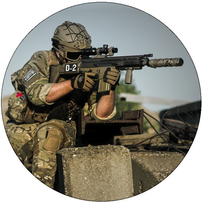 Military Pinback Buttons and Stickers