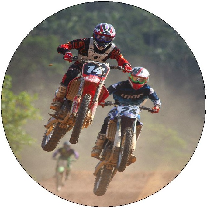Motorcycle Photo Pinback Buttons and Stickers