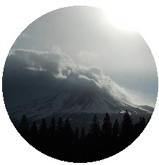Mount Shasta Pinback Button and Stickers