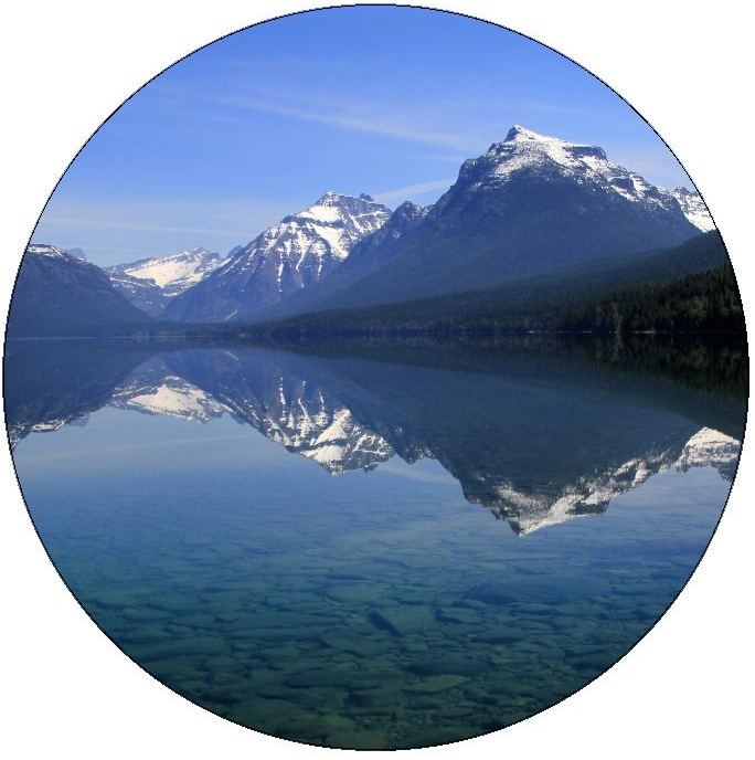Lake McDonald in Glacier National Park Pinback Buttons and Stickers