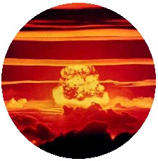 Nuclear Bomb Pinback Buttons and Stickers
