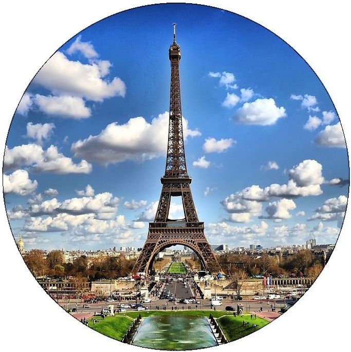 Paris Eiffel Tower Pinback Buttons and Stickers