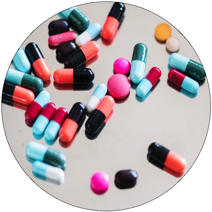 Pharmaceuticals Pinback Buttons and Stickers