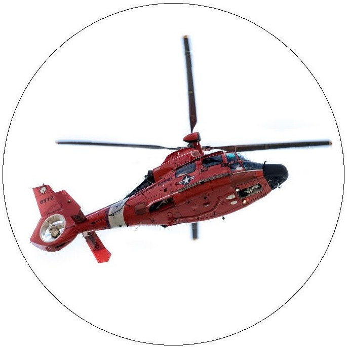 Helicopter Pinback Button and Sticker