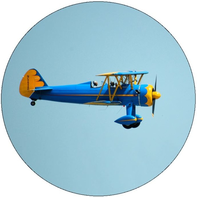 Plane Pinback Button and Sticker