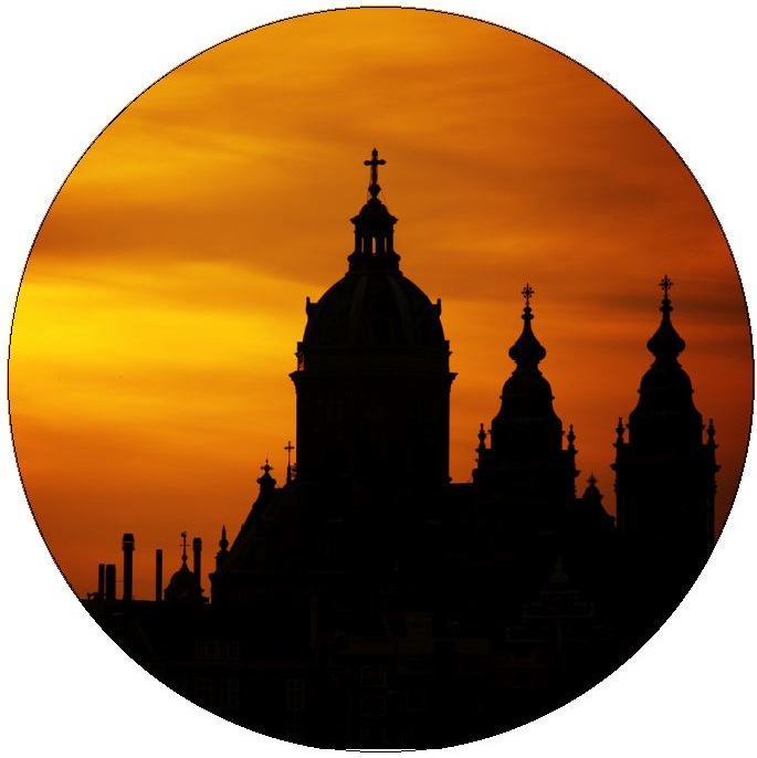 Amsterdam Church Pinback Buttons and Stickers